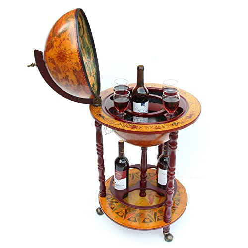 Ancient world globe map drinks cabinet bottle holder amazon westwood globe shaped mini bar drinks cabinet retro style host trolley glasses bottles wine 360mm gumiabroncs Images