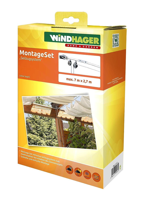 Amazon.de: Windhager Seilzugsystem Montage-Komplett-Set zum Spannen ...
