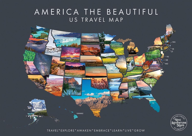 Scratch Off Map United States USA Scratch Travel Map US LandmarksAdventures
