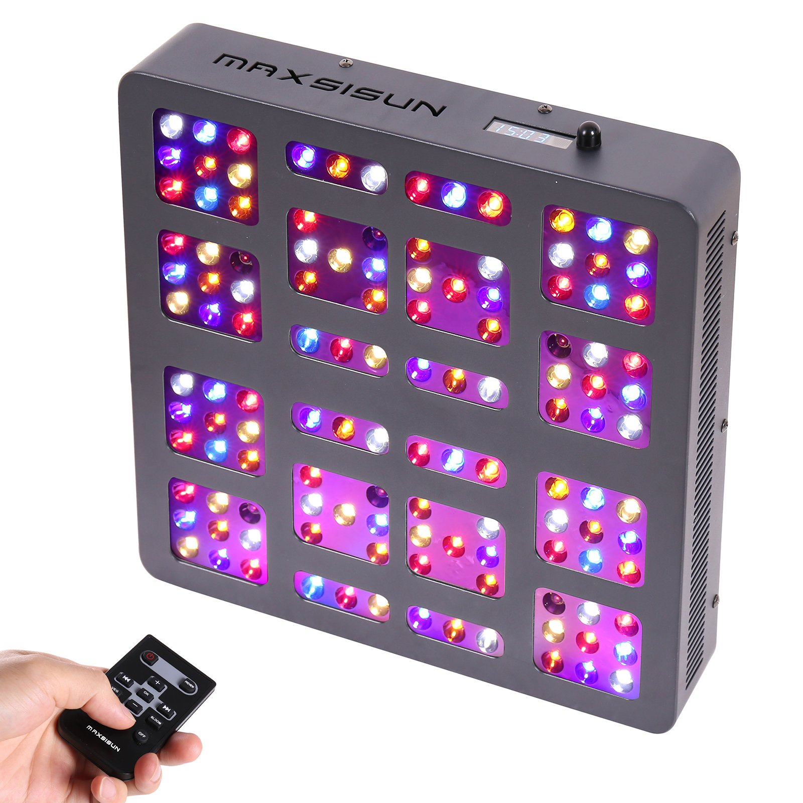 Galleon - MAXSISUN Timer Control 600W LED Grow Light 12-Band