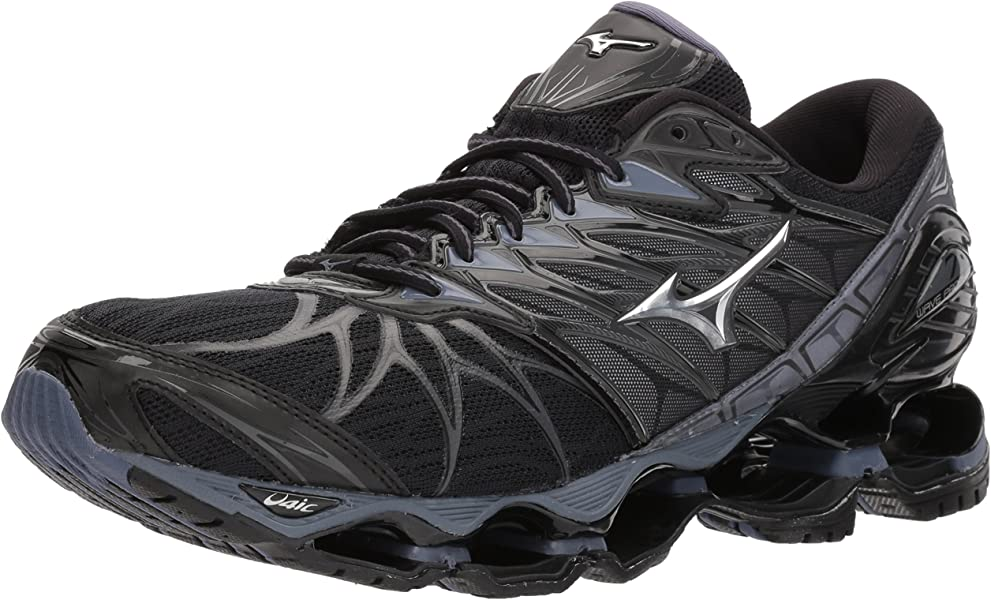 new concept 69291 8d671 Mizuno Men s Wave Prophecy 7 Running Shoe, Black Silver, ...