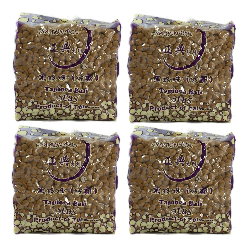 ChaBonBon Black Tapioca Boba Bubble Tea Pearls 5lb / 2.2 Kilo