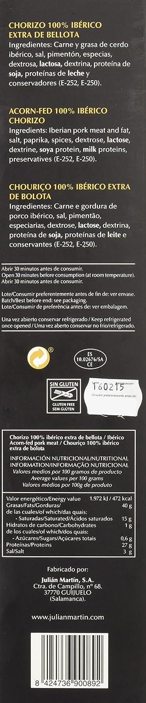 Julián Martín - Chorizo Ibérico Bellota - 500 gr