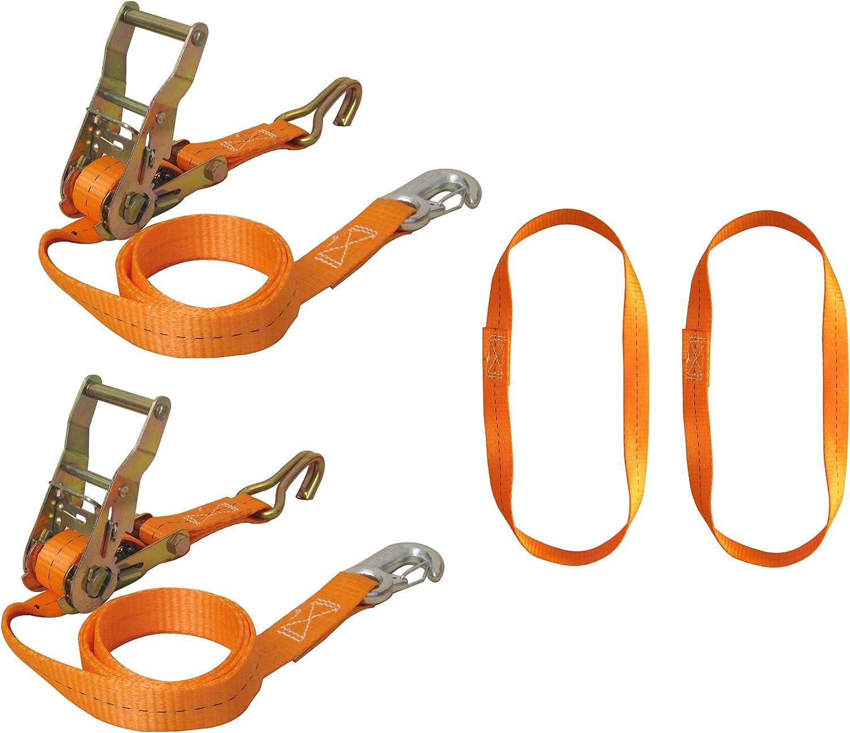 Braun 750 6 Front Motorrad Vorderradverzurrung Zurrgurtset 6 Teilig Mit Spitzhaken Und Karabinerhaken Inklusive Endlosschlingen Gurtfarbe Orange Auto