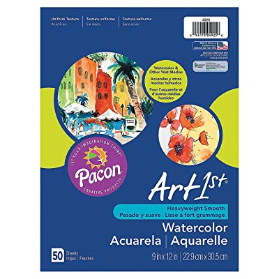 "Fun Express - Watercolor Paper 9"" X 12"" (50pc) - Basic Supplies - Art Supplies - Art Paper - 50 Pieces: Toys & Games"