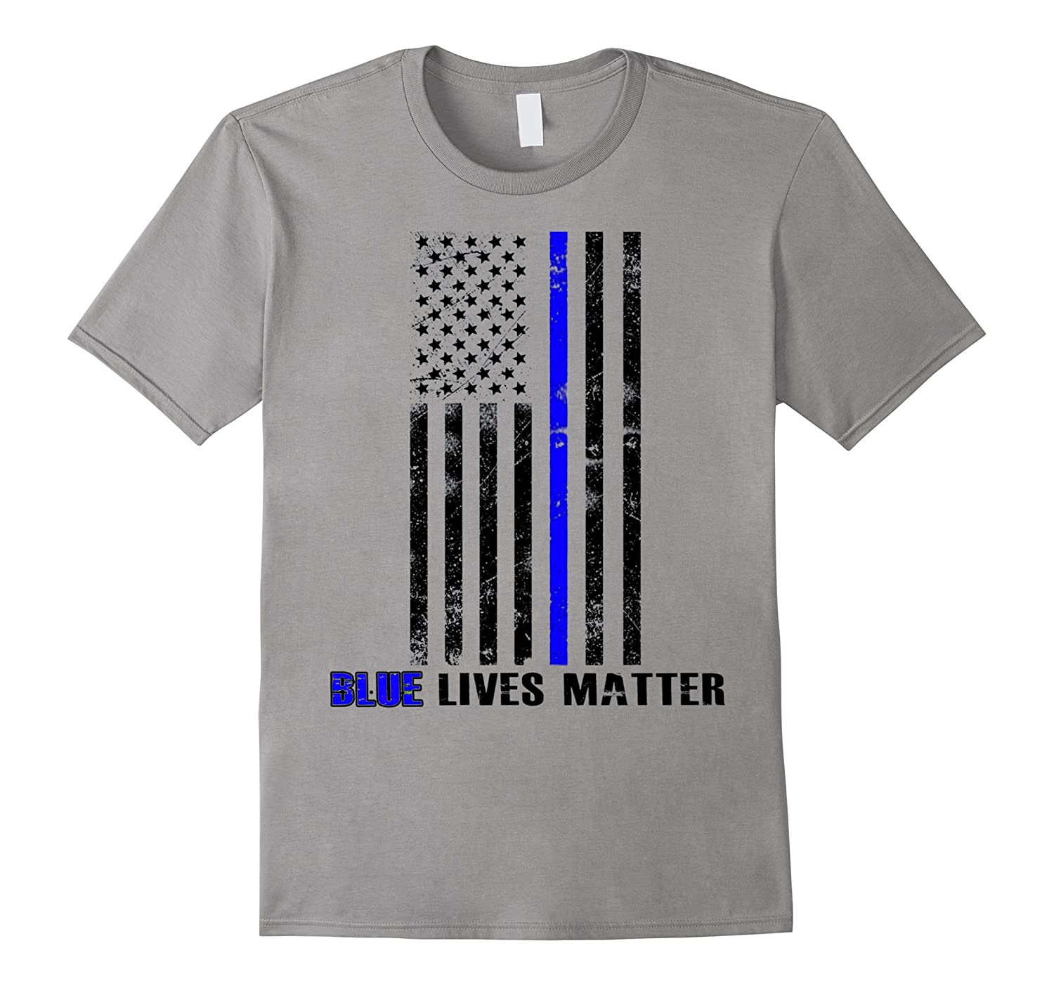 Blue lives matter Thin Blue Line Shirt Support Police-TD