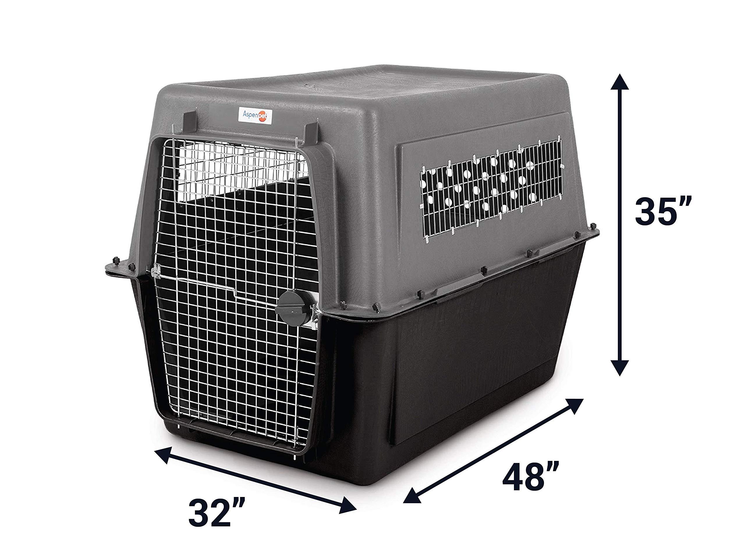 Aspen Pet Porter Heavy-Duty Pet Carrier,Dark Gray/Black,90-125 LBS by Petmate (Image #2)