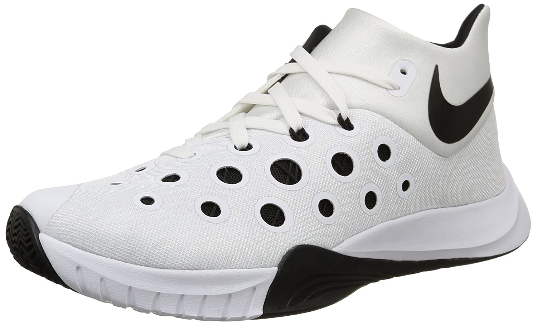 NIKE Men's Zoom Hyperquickness 2015 Basketball Shoe B00Q5OHL84 13 D(M) US|White/Black