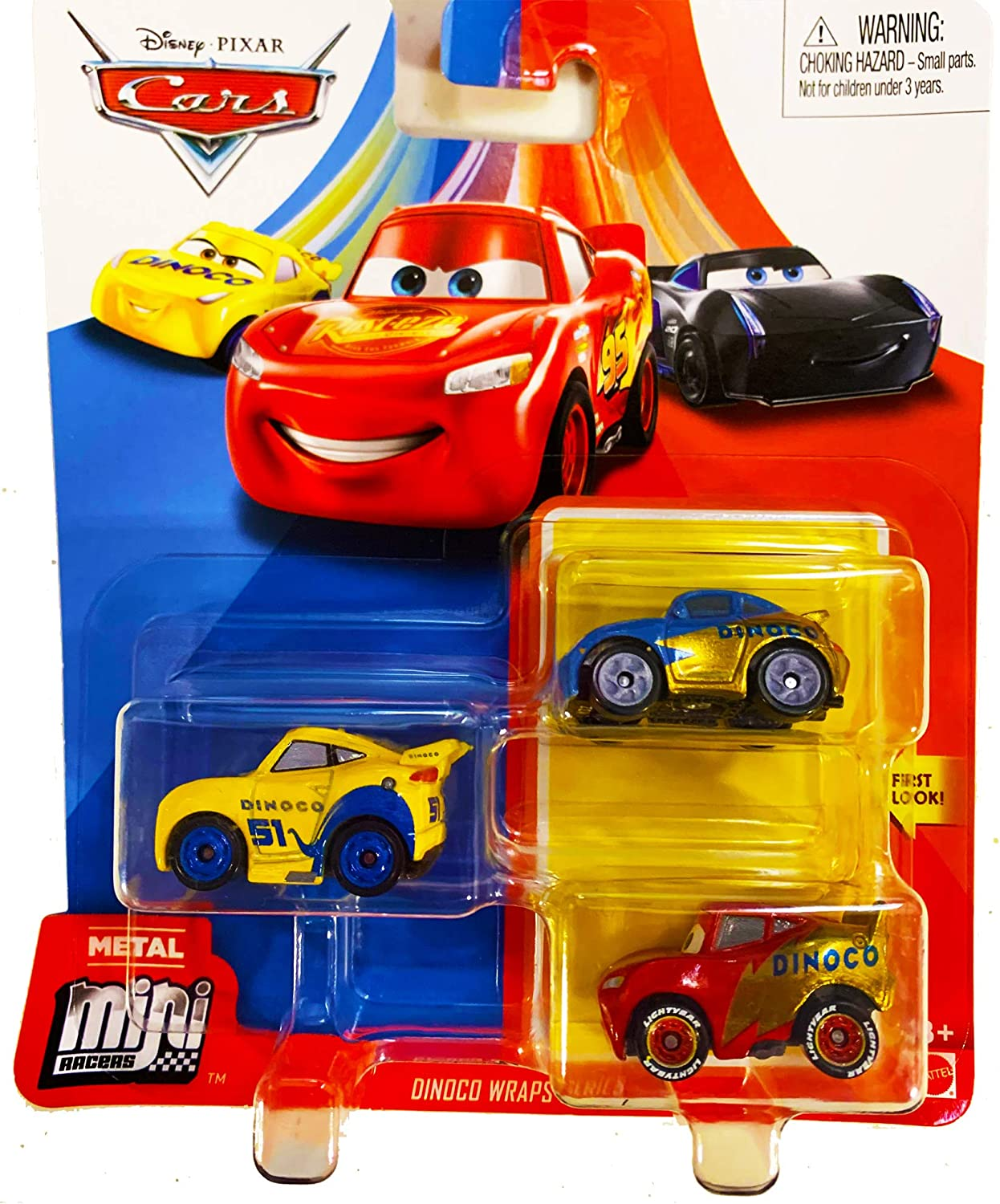 Amazon Com Disney Pixar Cars Mini Racers 3 Pack Dinoco Wraps