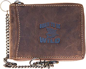 Zip-around natural durable genuine leather wallet Fast Worldwide shipping.