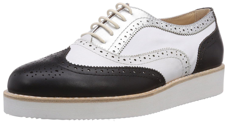 Samsonite Shoes ATENE Low 1570 Leather/Leather Black/White - Zapato Brogue de Cuero Mujer 36 EU|Multicolor - Mehrfarbig (Black/White)