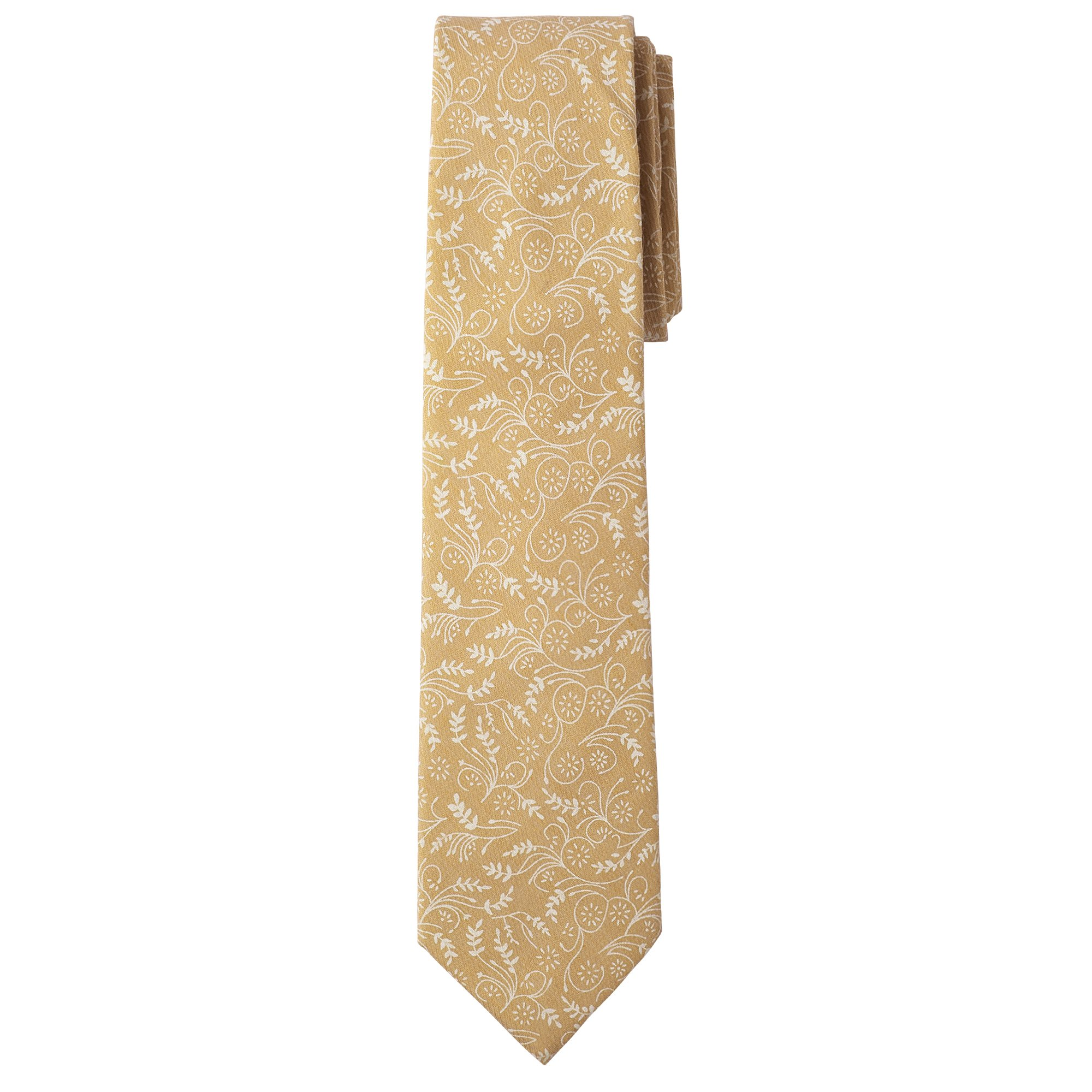 Jacob Alexander Men's Slim Width 2.75'' Floral Neck Tie - Honey