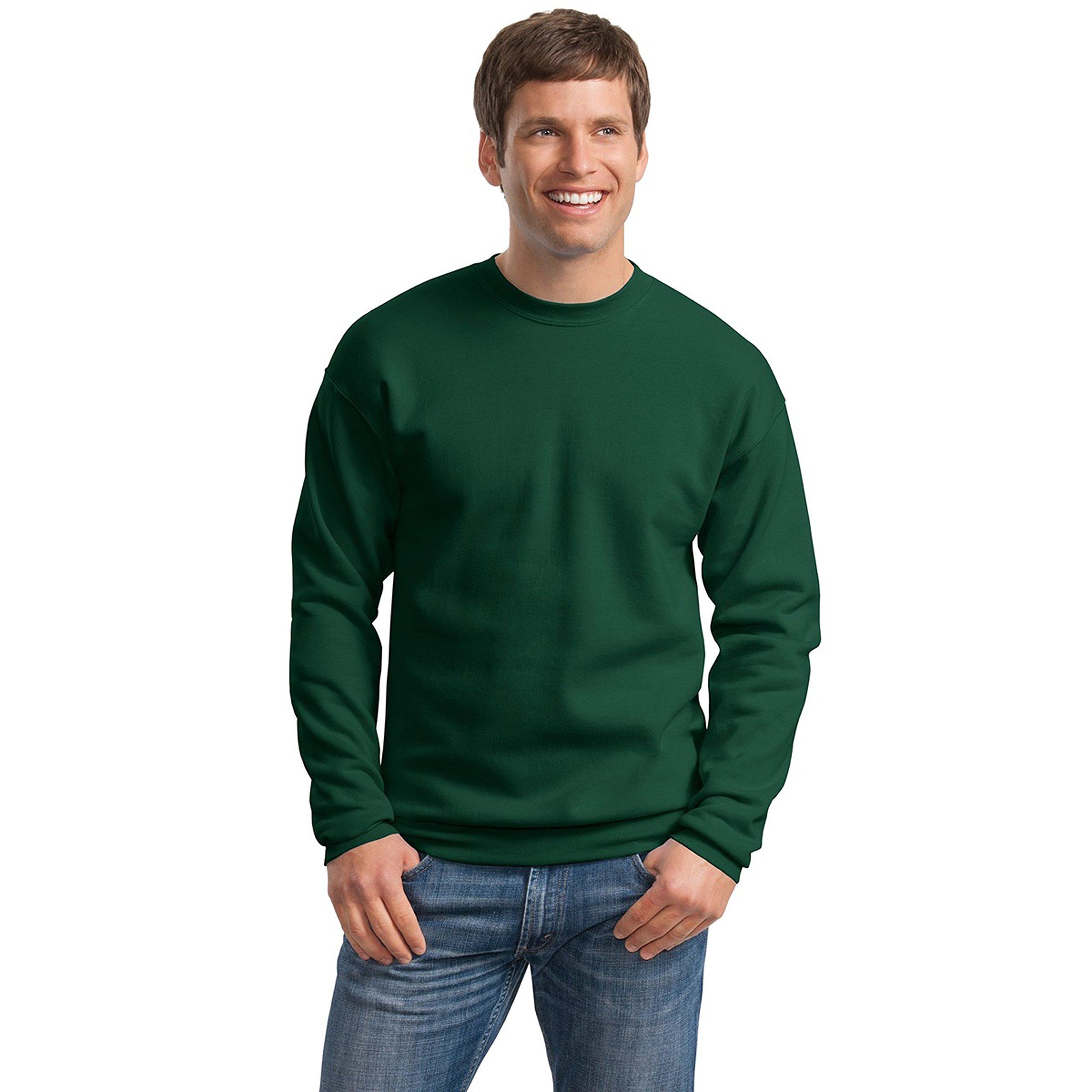 Hanes Men's Ecosmart Fleece Sweatshirt, Deep Forest, Large by Hanes