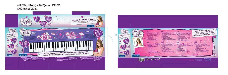 Violetta Disney Teclado Electrónico con 49 Teclas, Piano portátil, Instrumento niñas (Lexibook K720VI), Color Morado (: Amazon.es: Juguetes y juegos