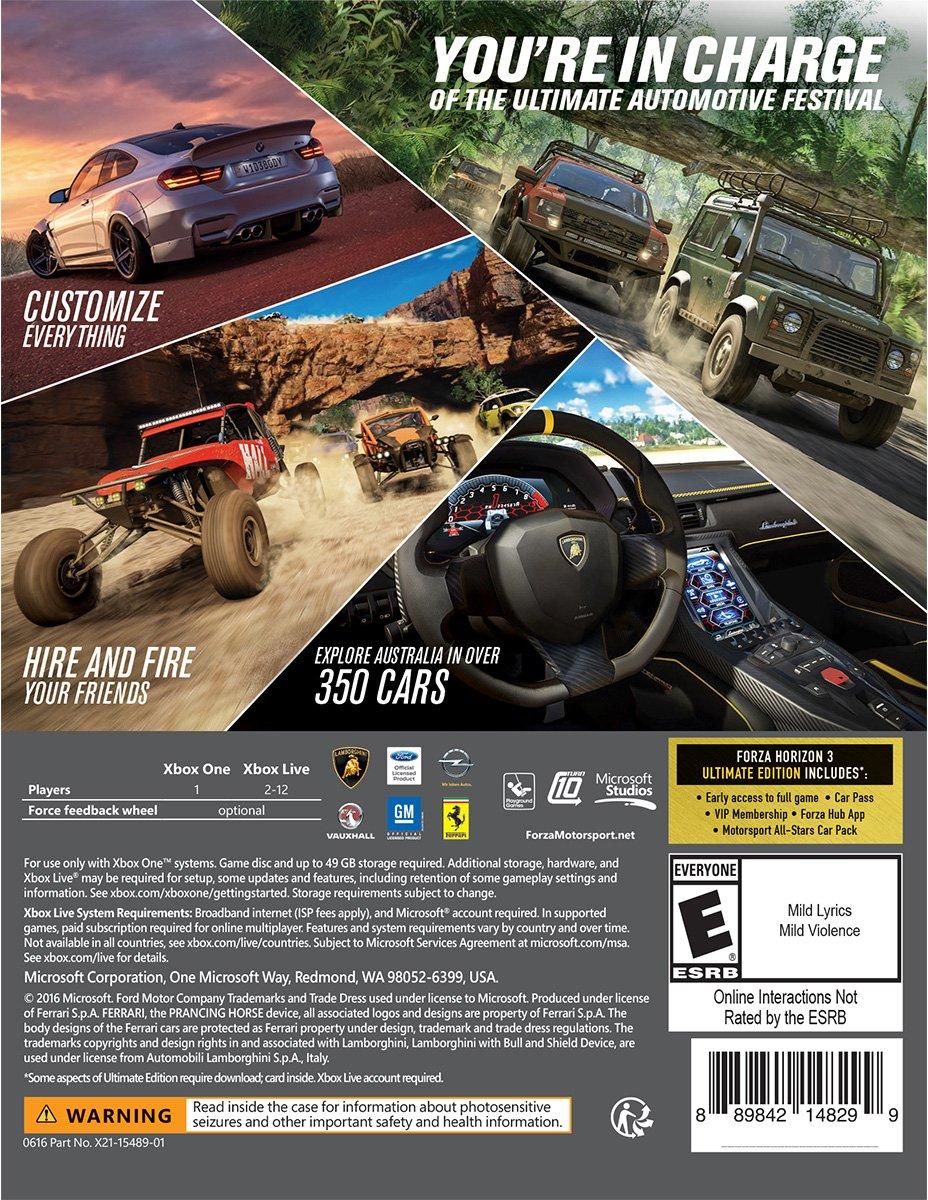 Forza Horizon 3 Ultimate Edition - Xbox One/Windows 10