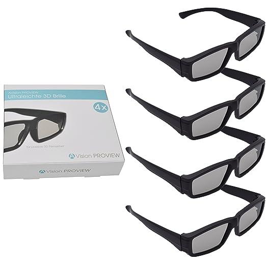 6 opinioni per AVision Proview 3D occhiali ultra leggero supporto Set di 4