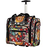 Lily Bloom Designer 15 Inch Carry On - Weekender Overnight Business Travel Luggage - Lightweight 2- Spinner Wheels…