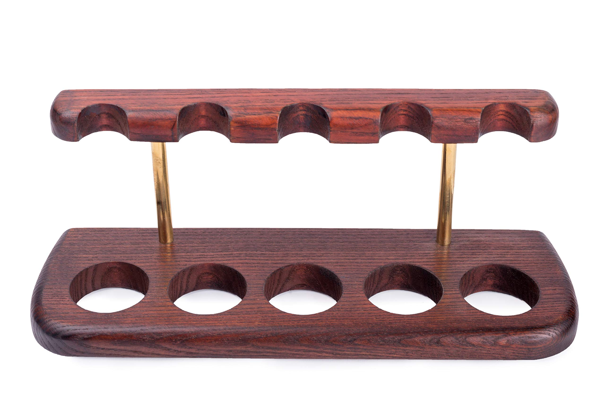 Tobacco Pipes Wooden Display Stand Rack Hold ''Arch V'' For 5 Smoking Pipes by Dr.Watson