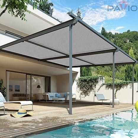 Amazon.com : Patio Paradise 12u0027 X 25u0027 Sunblock Shade Cloth Roll, Light Grey  Sun Shade Fabric 95%UV Resistant Mesh Netting Cover For Outdoor, Backyard,  ...