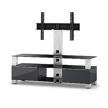 Fernseher Möbel sonorous md 8143 b inx grp greu tv möbel für 60 fernseher amazon
