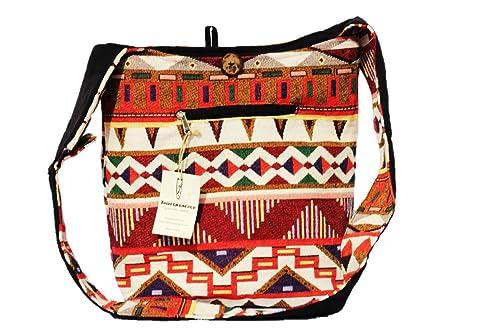Amazon.com  TRIBESMANGOLD-- Hippie Hobo Sling Shoulder Crossbody Bag Purse  Cotton Boho Bag  Shoes cd84c0b8b8813