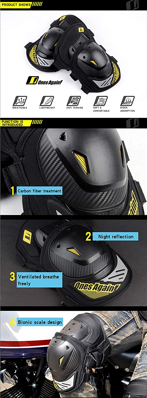 AonePro Rodillera de motocicleta ATV Motocross Ciclismo Rodillera y Espinilleras Protector de Rodilla 2 piezas