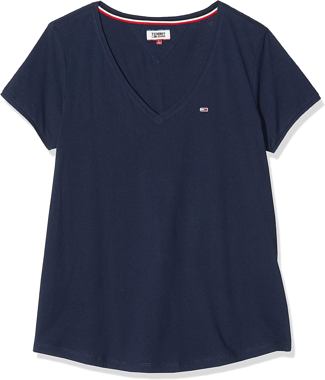 Tommy Jeans Damen Tjw Soft Jersey V-Neck Tee Sportpullover