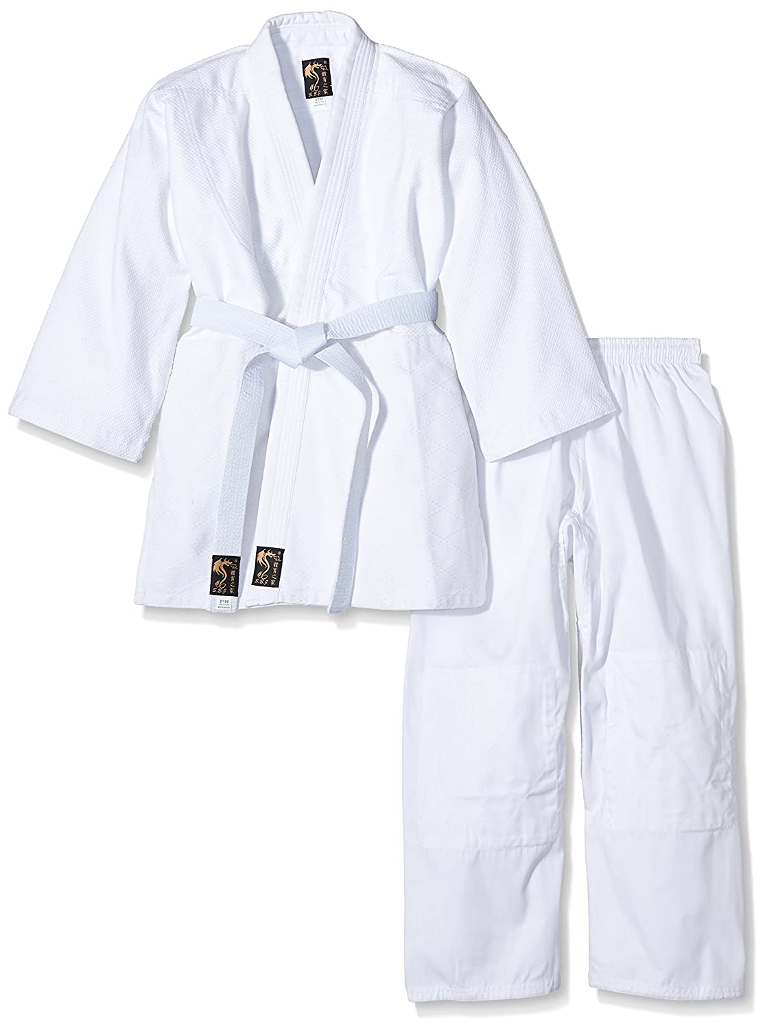 mittelschwerer Basic - Traje de Judo para niños y Adultos: Amazon ...