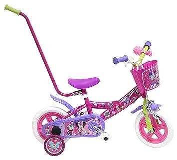 Disney Bicicleta Niño Minnie con Barra de Aprendizaje 10 pulg Rosa 2-4 años: Amazon.es: Deportes y aire libre