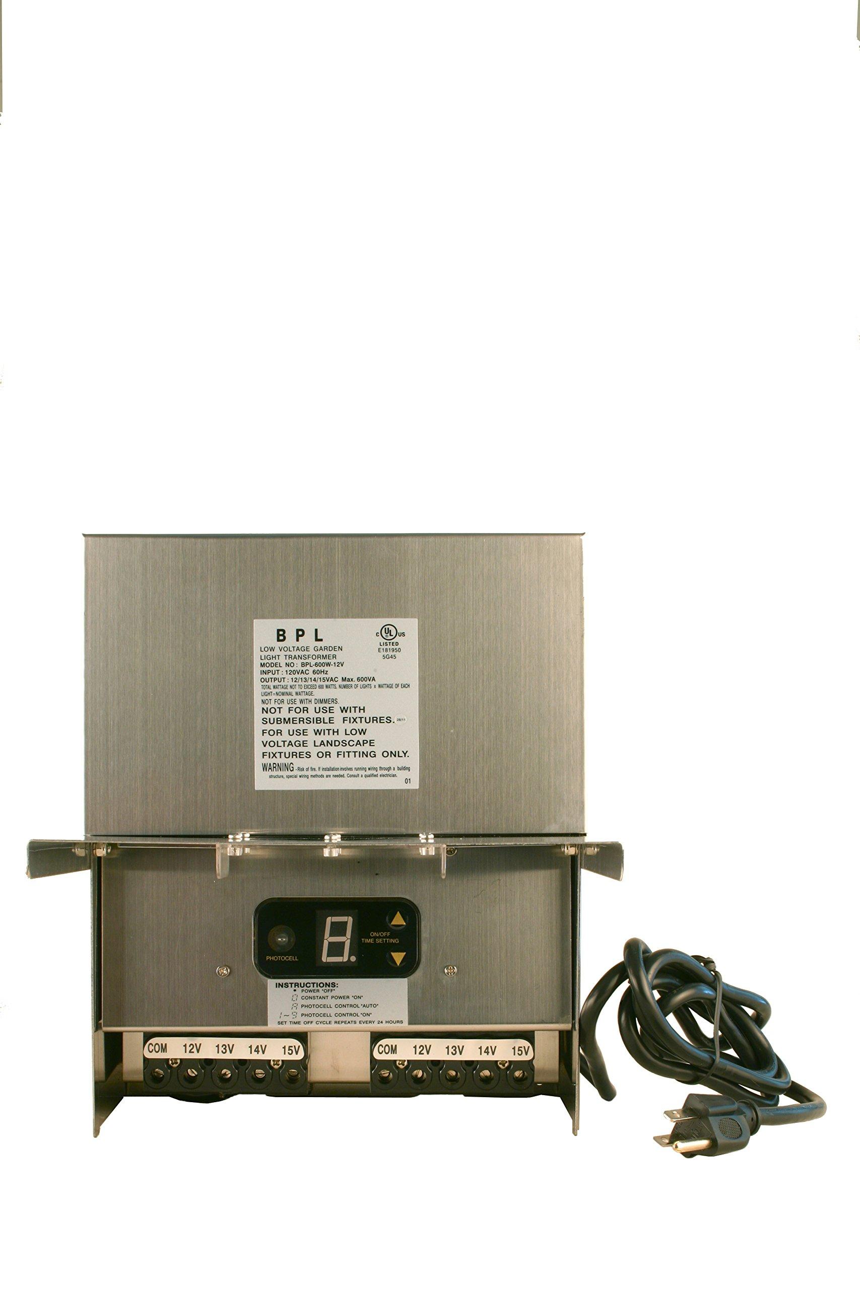 600W Stainless Steel Low Voltage Landscape Light Transformer 12V by Best Pro Lighting