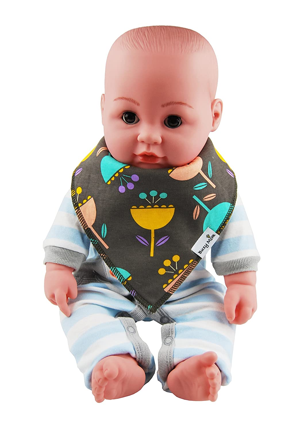 Z 4-Pack Unisex Baby Toddlers Bandana Drool Bibs with Snaps 100/% Soft Cotton Unique Shower Gift Set Super Absorbent for Teething Feeding Fashion Adjustable