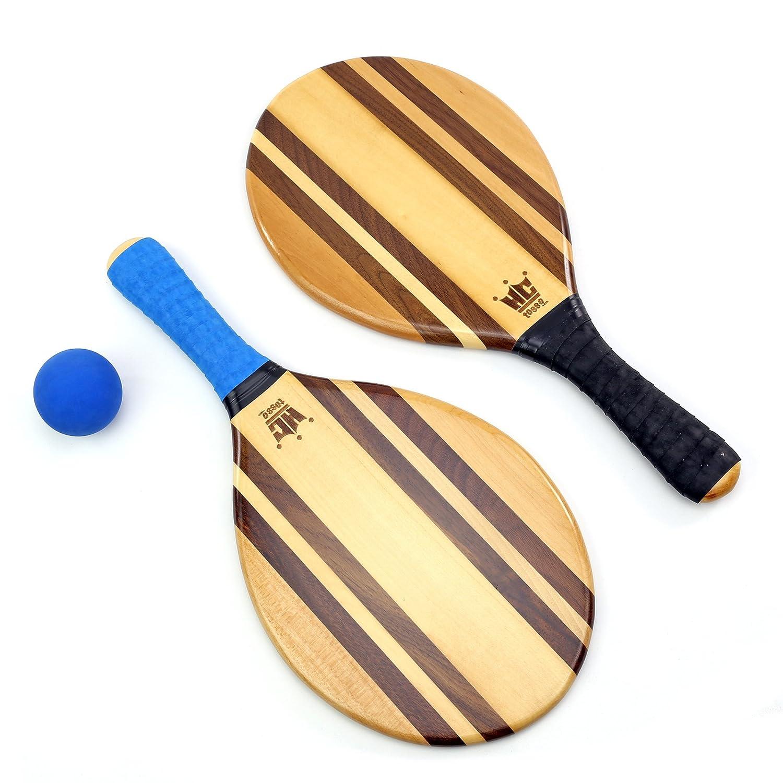 Hammer Crown Frescobol Paddle Ball Set Beach Stripes