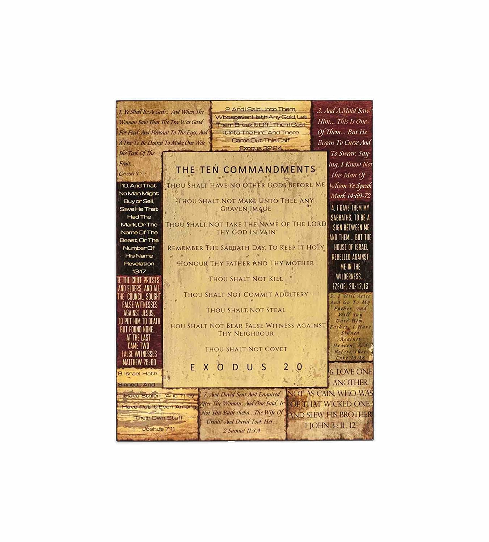 Amazon.com: Ten Commandments 24.25 x 31.5 x 1.5 Inch Christian Home ...