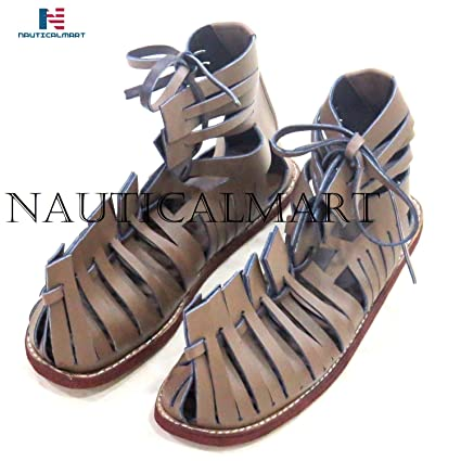 28dc1f3aeb91 Amazon.com  NAUTICALMART Medieval Roman Leather Caligae Viking Sandals ABS  Size - 12 inches  Sports   Outdoors