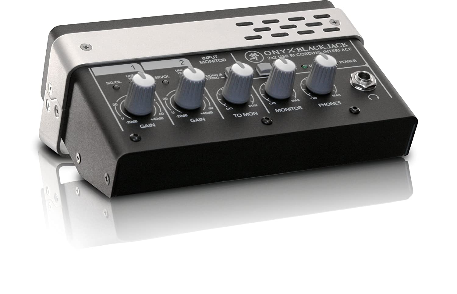 Mackie Onyx Blackjack Premium 2x2 USB Recording Interface with Tracktion 3 Music Production Software