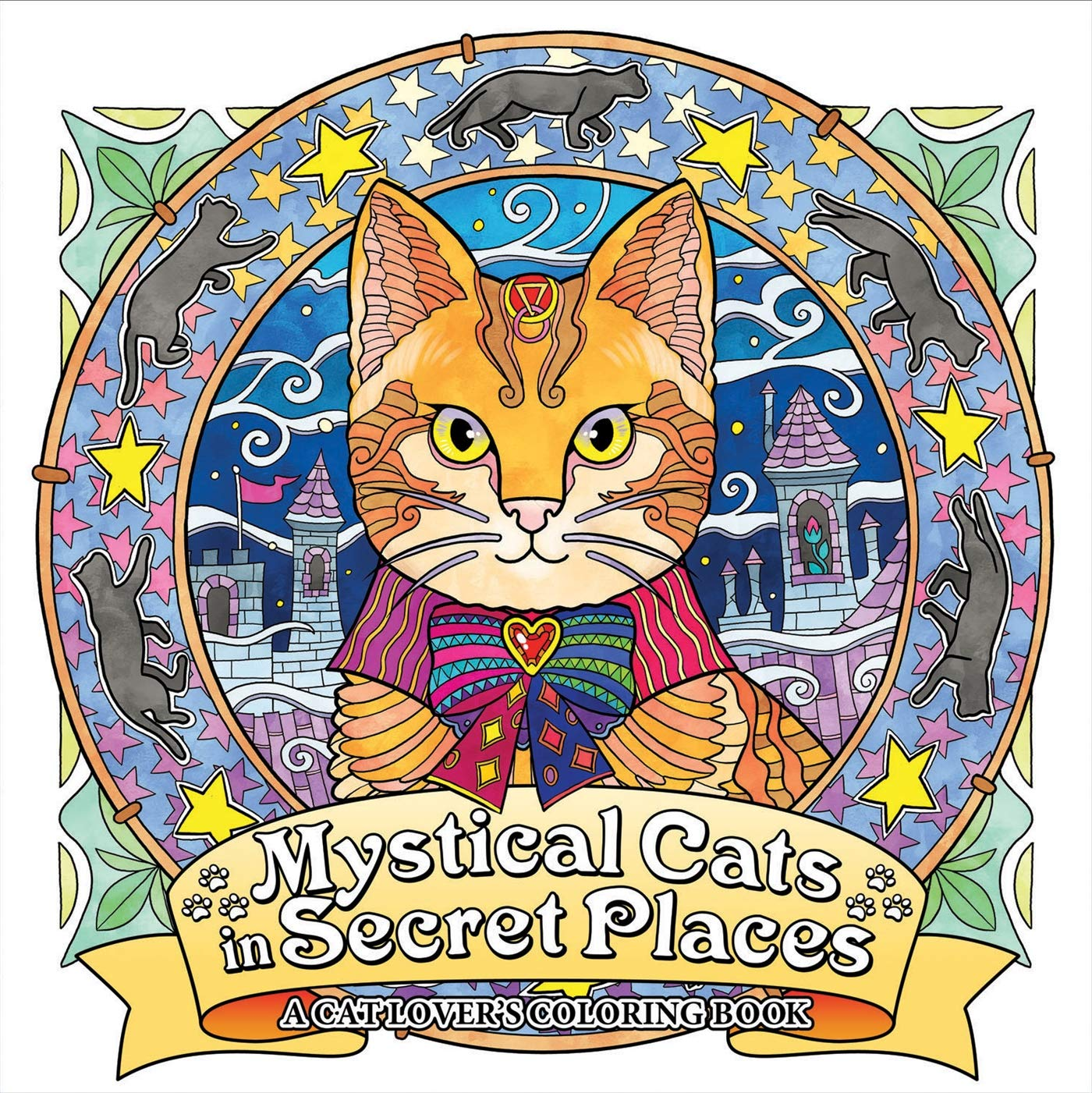 Mystical Cats Secret Places Coloring product image