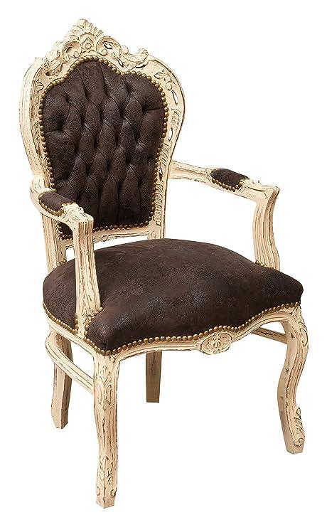Biscottini Poltrona stile francese Luigi XVI in legno massello di ...