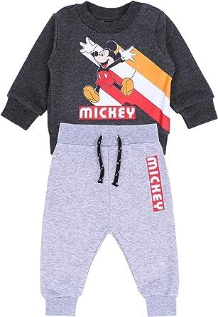 Rot-Grauer Baby-Anzug Mickey Disney