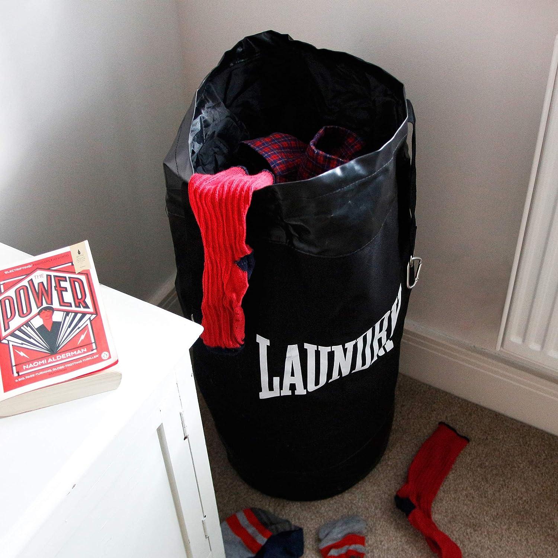 Laundry Punch Punching Bag Boxing Star for Washing Storage Hanging Black Sack UK
