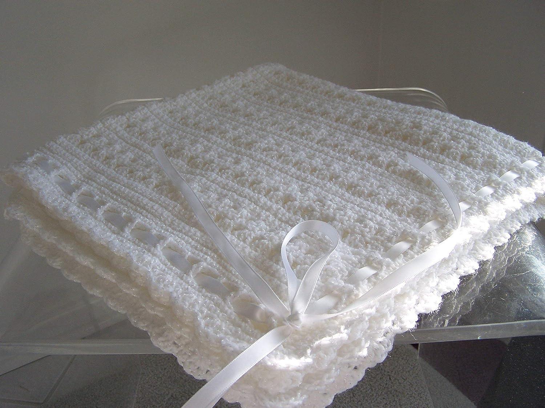 Amazon Hand Crochet Christening Blanket Handmade