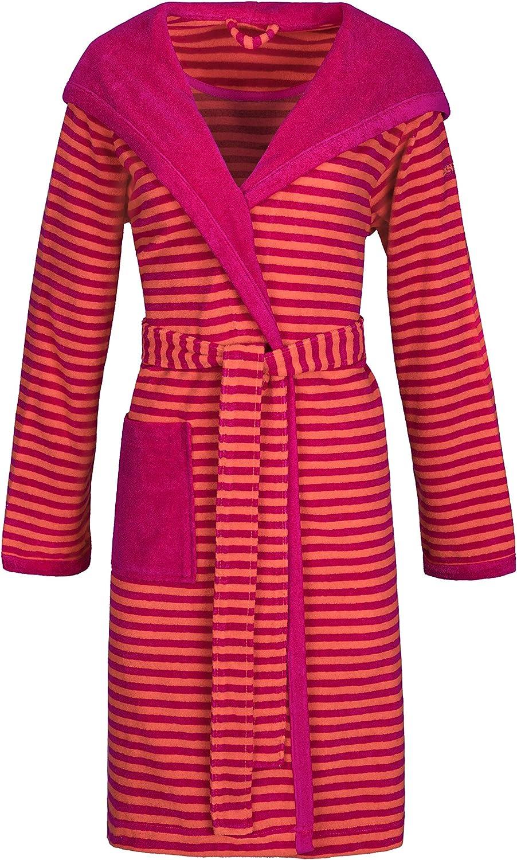 ESPRIT Damen-Bademantel Striped Hoody mit Kapuze Leichtfrottier