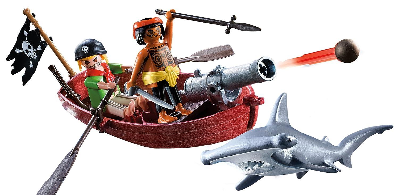 amazon com playmobil pirates rowboat with shark toys u0026 games