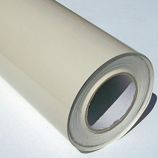 Rollo de vinilo autoadhesivo (rollo de 5 m x 61 cm), color almendra/crema brillante: Amazon.es: Hogar