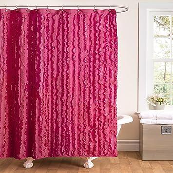 Amazon.com: Lush Decor Modern Chic Shower Curtain, 72 by 72-Inch ...