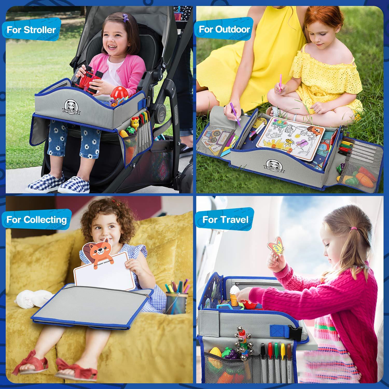 Jahre Kinder Yooly Kinder Reisetisch Knietablett Reisetisch Weltraum Muster mit Weitere Organisieren Taschen,/ Ersichtlich iPad-Halterung /& Getr/änkehalter Spieltisch tisch auto Geschenk f/ür 3
