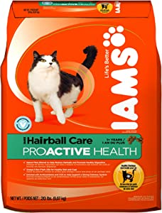 Iams Proactive Health Adult, Hairball Care, 20-Pound Bags