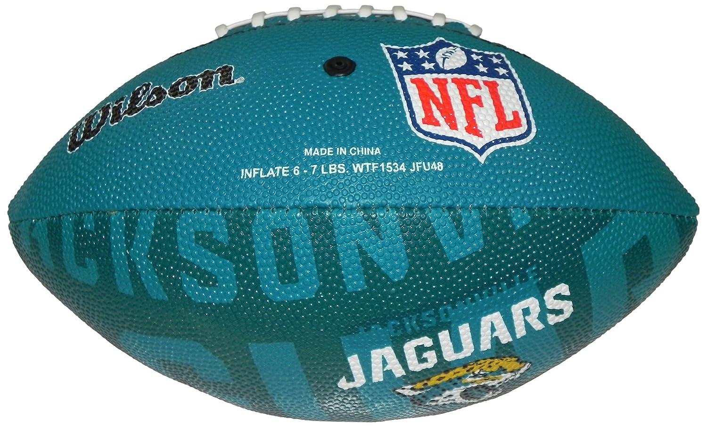 Wilson Football NFL Junior Jacksonville Jaguars Logo - Balón de fútbol americano (infantil, caucho), color multicolor, talla 5 WL0206714040