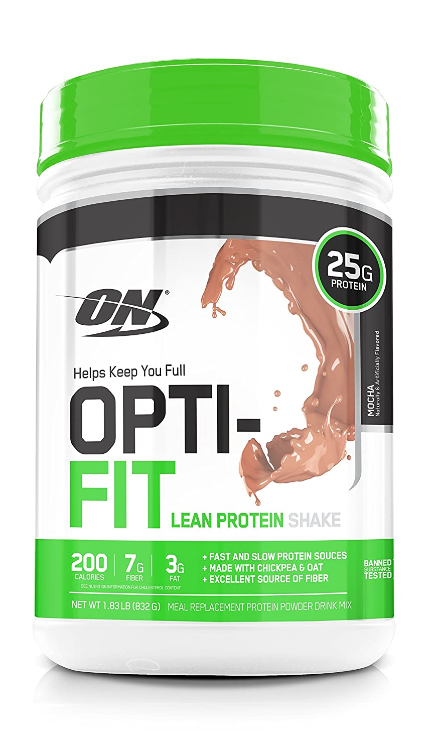 Amazon.com: Optimum Nutrition Opti-Fit Lean Protein Shake, Meal Replacement  Powder, Mocha, 1.83 Pound: Health & Personal Care