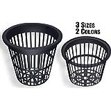 NP3AB: 3 Inch Black Slotted Mesh Net Pot for Hydroponics/Aquaponics/Orchids - 25 Pack