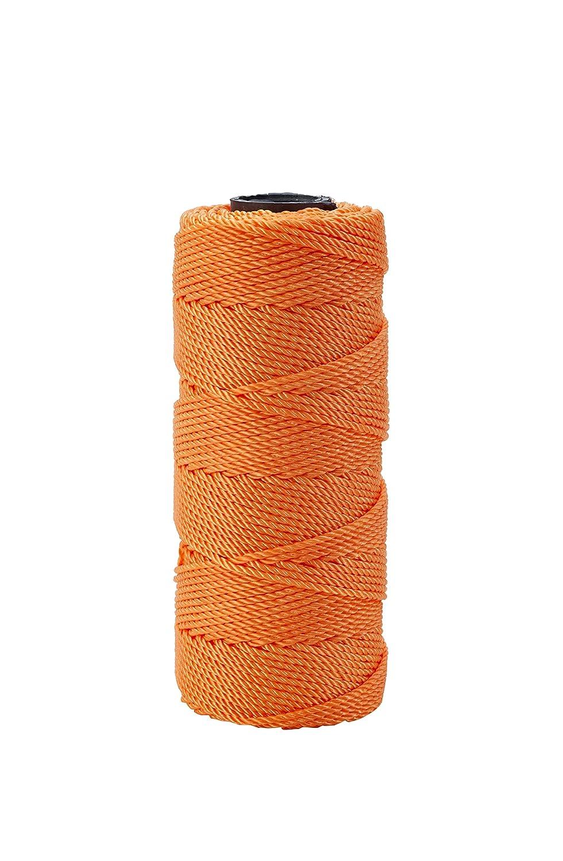 Twisted Pack of 4 Glo Orange 18 x 1090 Mutual Industries 14661-145-1090 Nylon Mason Twine 18 x 1090/' Mutual inc. 1 lb